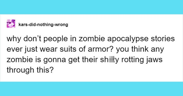 tumblr thread zombie apocalypse