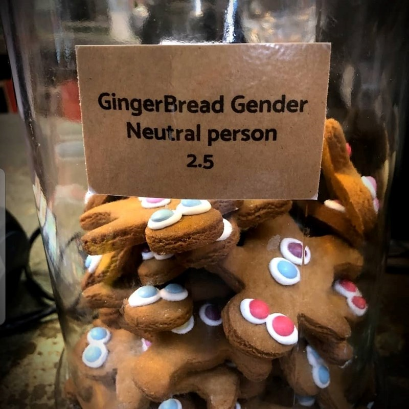 gingerbread neutral gender cookie