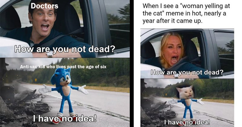 "Funny dank 'Sonic' memes entitled, ""How Are You Not Dead?"""