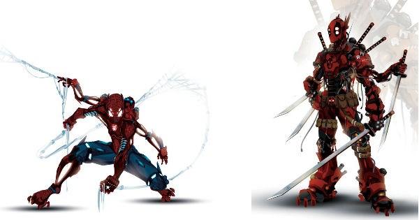 marvel joker DC deadpool Fan Art captain america superheroes batman Spider-Man bionic - 972549