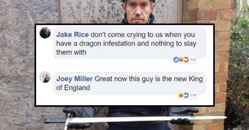 Police roasted on facebook for confiscating a prop sword.