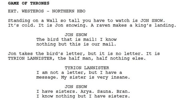 Funny parody of bot-written Game Of Thrones episode, keaton patti, hbo.
