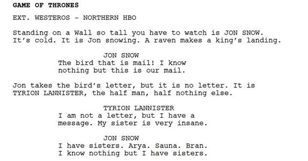 Funny parody of bot-written Game Of Thrones episode, keaton patti, hbo.