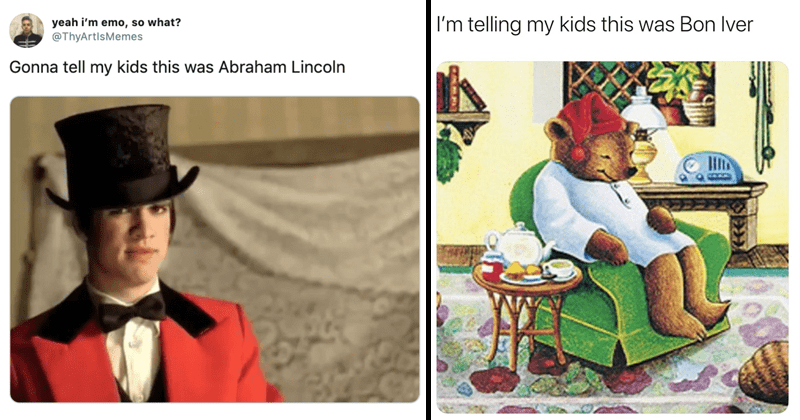 """funny meme about """"gonna tell my kids or telling my kids, twitter meme, funny tweets"""
