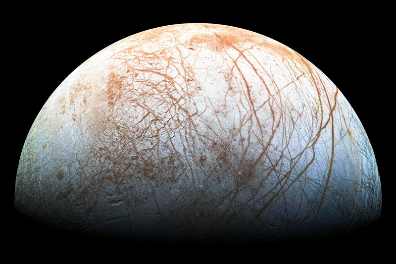 NASA scientists discovered water vapor and potentially a massive amount of water hiding under the surface of Jupiter's moon Europa
