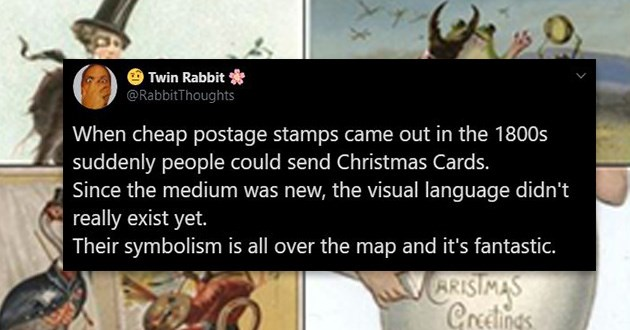 vintage Christmas stamps tweets