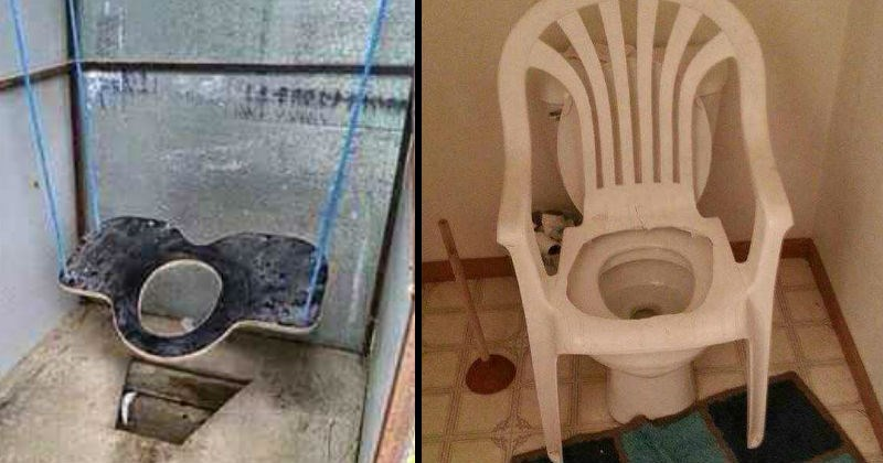 Toilets that are scary and weird.