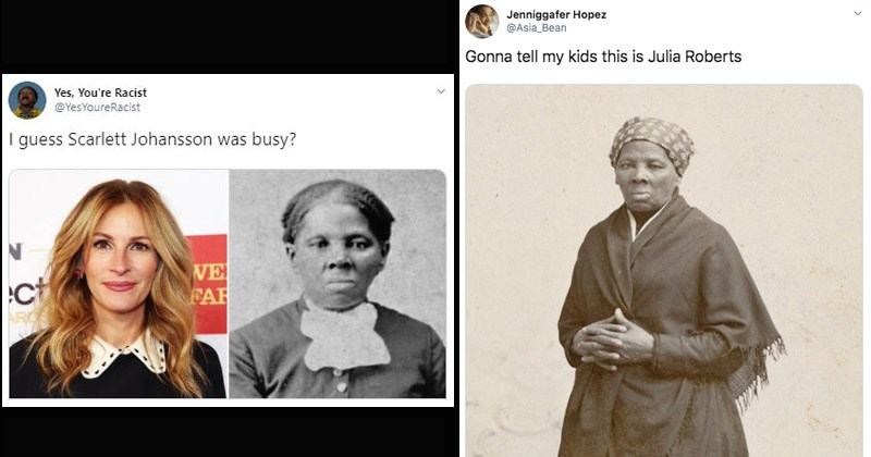Funny memes and tweets mocking the idea that Julia Roberts would play Harriet Tubman in a movie