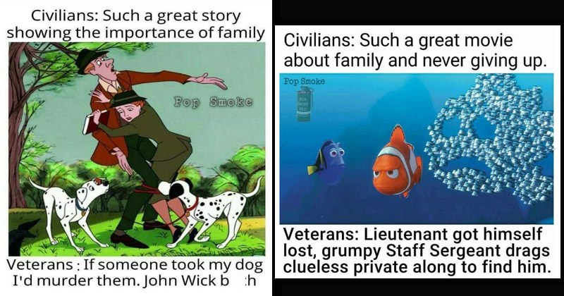Funny memes where veterans explain classic Disney movies