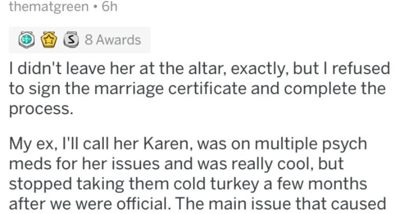 Guy's girlfriend lies to him and cheats on him, and then goes so far as to fake a marriage with him.