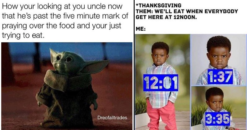 Funny memes about Thanksgiving