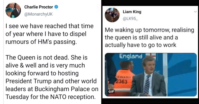 Funny memes and tweets about Queen Elizabeth's supposed death