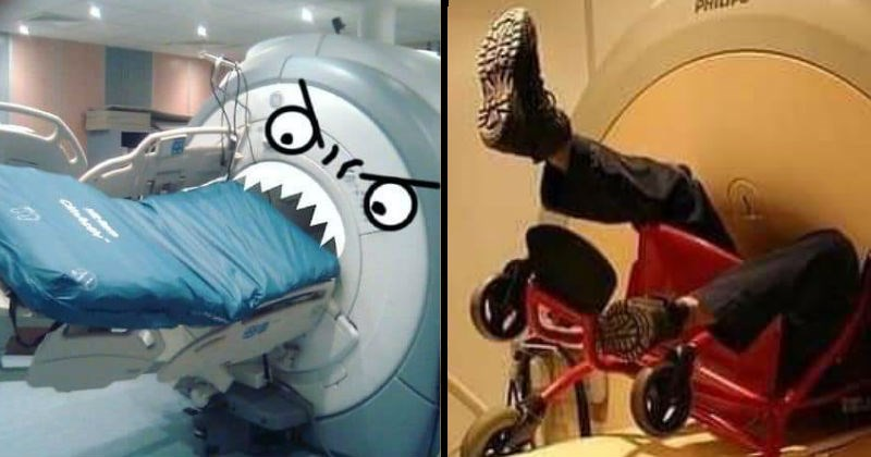 People and objects that got sucked into MRI machines.