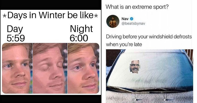 Funny memes about winter