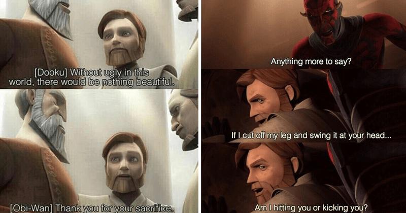 funny moments of obi-wan kenobi, obi-wan kenobi memes