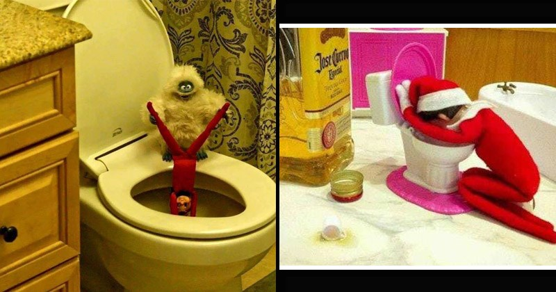 Funny and raunchy pics of the Elf on the Shelf