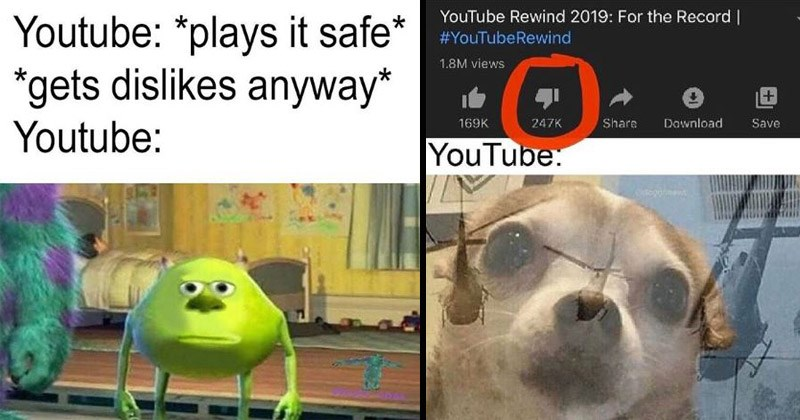 Funny dank memes about YouTube Rewind 2019