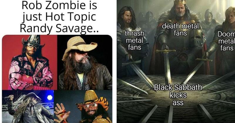 Funny metal music memes.