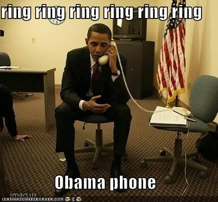 ring ring ring ring ring ring Obama phone - Cheezburger - Funny Memes |  Funny Pictures