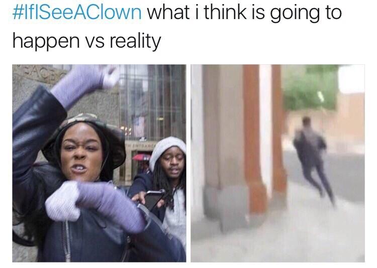 social media against clowns