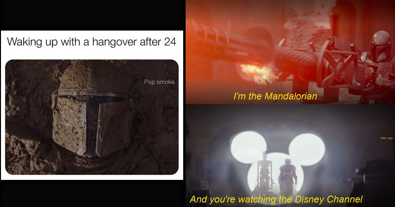 Funny memes about 'The Mandalorian'