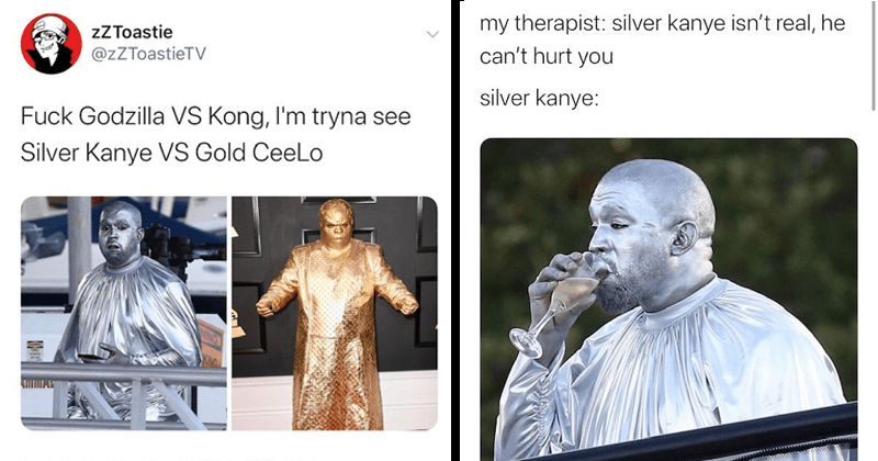 funny memes and tweets about silver kanye, art basel, miami