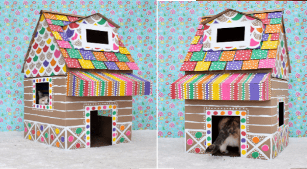 Gingerbread cat house