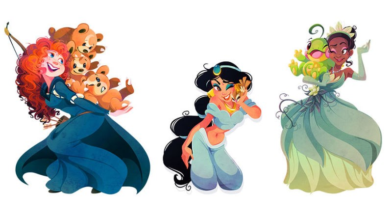 disney Fan Art Pokémon princesses