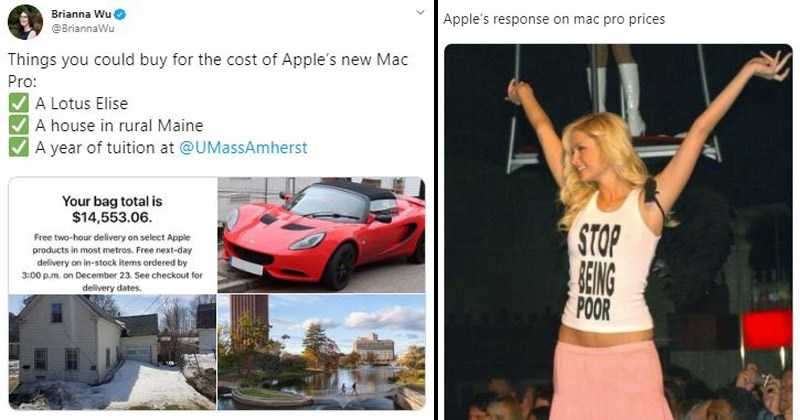 Funny Twitter memes and reactions about the price of Apple's new Mac Pro