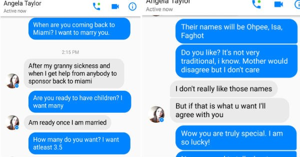 trolling and stringing a nigerian scammer along