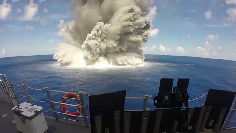 Some of the most impressive shockwaves explosions and slow-motion greatness all in one spot. The picture is of a Navy test explosion of munitions underwater.