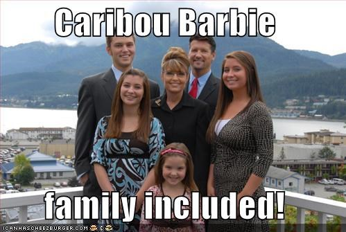 Caribou Barbie  family included!