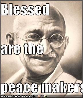 Blessed  are the  peace makers