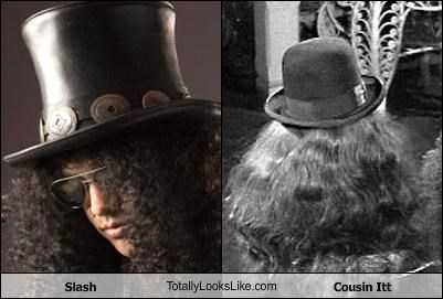 Slash TotallyLooksLike.com Cousin Itt