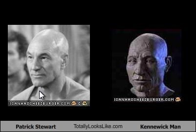 actor,bust,kennewick man,patrick stewart,picard,prehistoric,Star Trek,TV