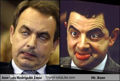 Jose Luis Rodriguez Zapatero TotallyLooksLike.com Mr. Bean