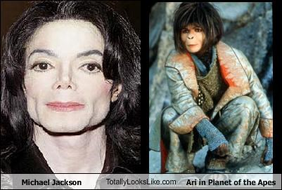 Michael Jackson TotallyLooksLike.com Ari in Planet of the Apes