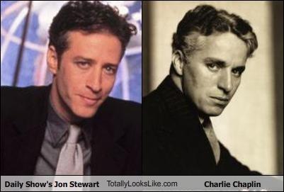 Daily Show's Jon Stewart TotallyLooksLike.com Charlie Chaplin