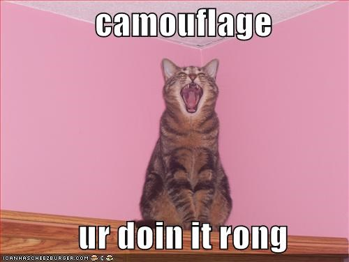 camouflage       ur doin it rong