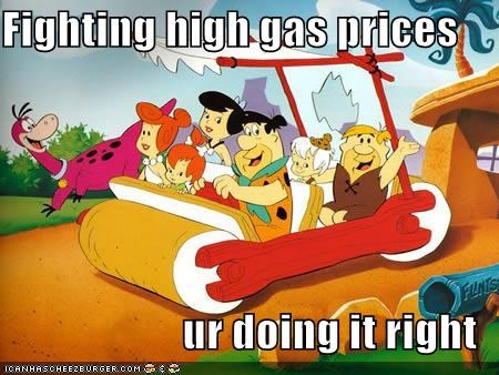 Fighting high gas prices  ur doing it right