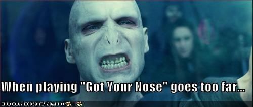 "When playing ""Got Your Nose"" goes too far..."