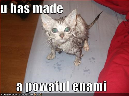 u has made  a powaful enami
