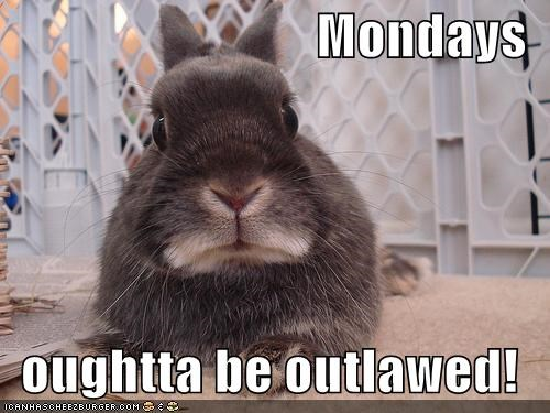Mondays  oughtta be outlawed!