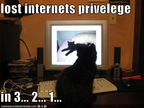 lost internets privelege  in 3... 2... 1...