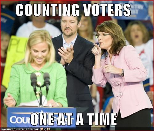 COUNTING VOTERS  ONE AT A TIME