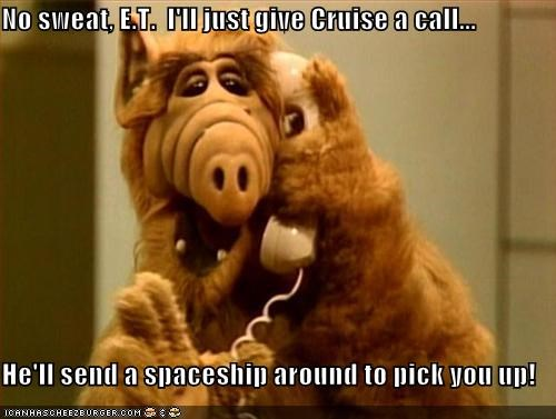 No sweat, E.T.  I'll just give Cruise a call...  He'll send a spaceship around to pick you up!