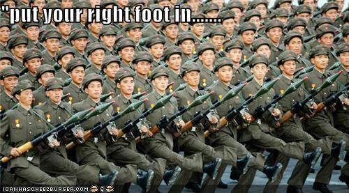 """put your right foot in......."
