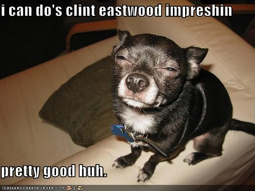 i can do's clint eastwood impreshin  pretty good huh.
