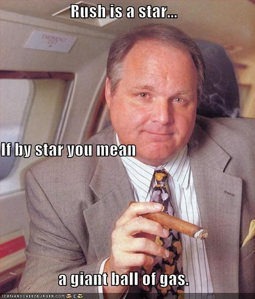 Rush is a star... If by star you mean a giant ball of gas.