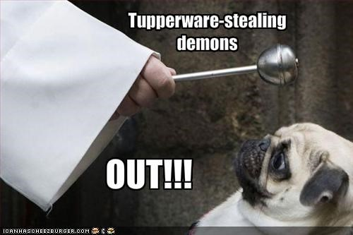 Tupperware-stealing demons
